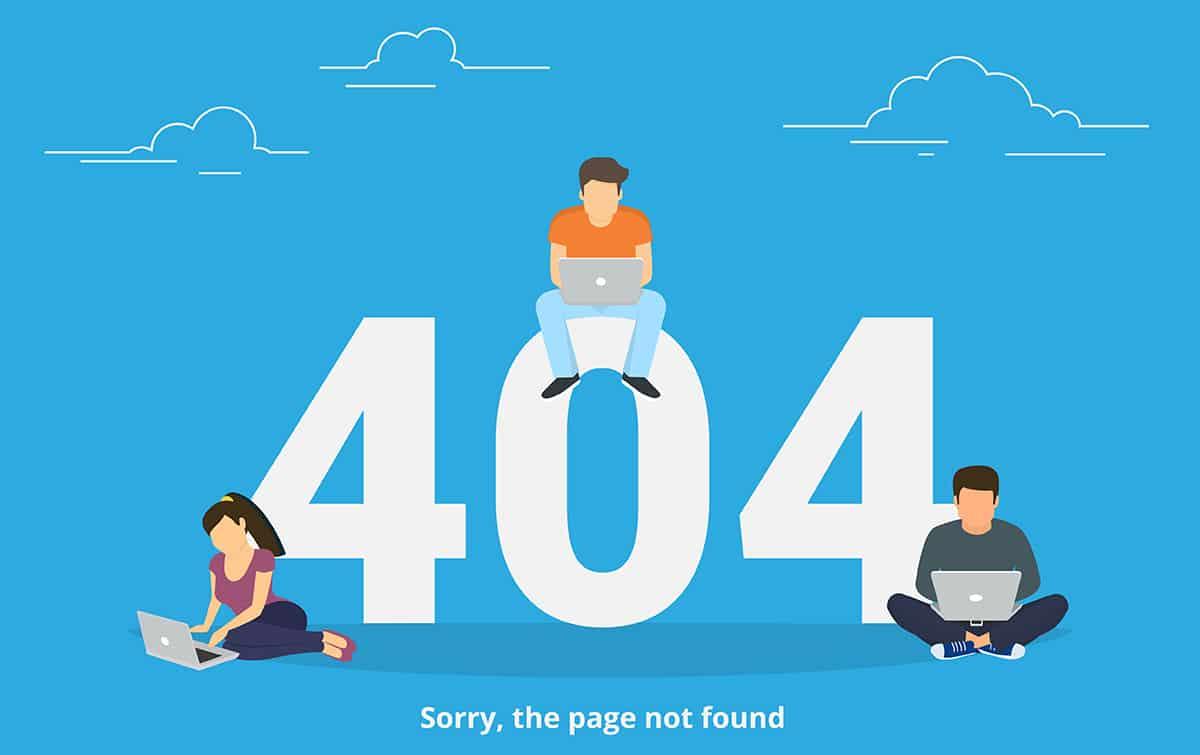 404-Fehlerseite als Synonym für schlechtes Online-Marketing